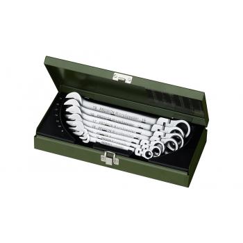 Набор комбинированных ключей MICRO-SPEDER с обгонной, муфтой и поворотной на ± 90 ° головкой, 7шт.  PROXXON