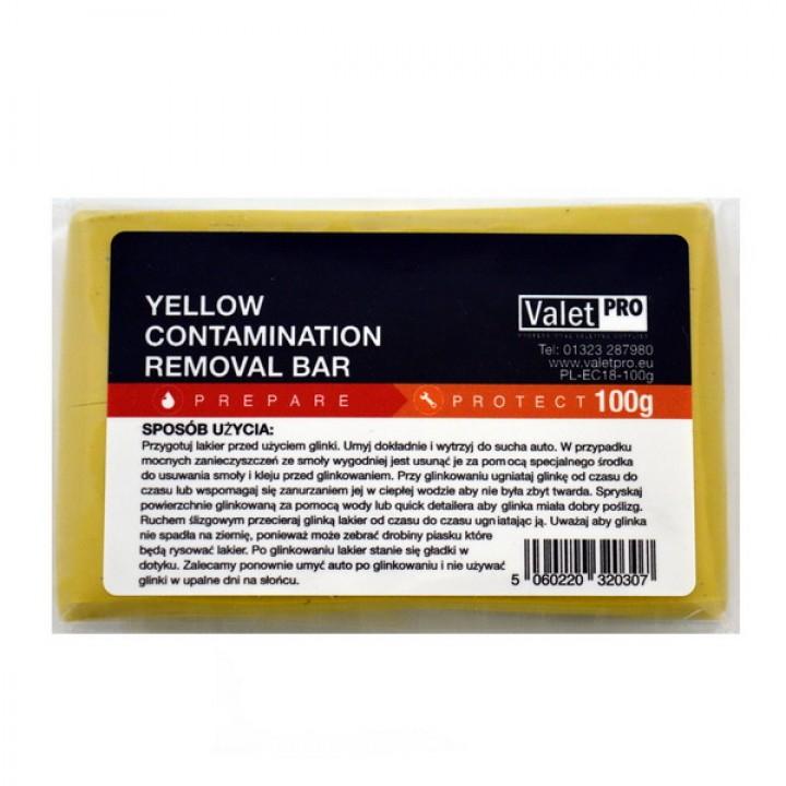 Глина для очистки кузова ValetRO 100 г жёлтая