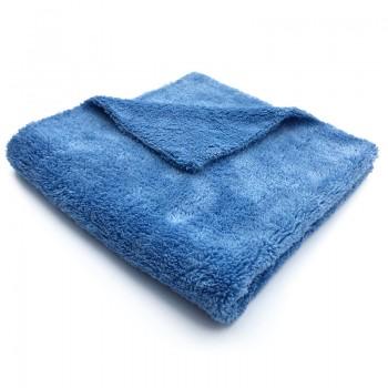 Полотенце микрофибра 40х40 см  без кромки мягкое голубое