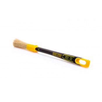 Кисточка WORK STUFF RUBBER ALBINO 16 мм с натуральной щетиной и резиновой ручкой